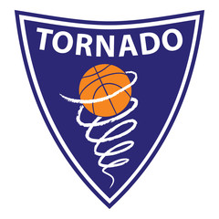 Basketball Tornado on violet