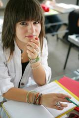 teenage girl at school