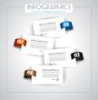 Infographic design - original geometrics