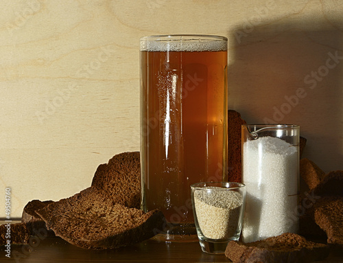 Bread kvass. Russian national drink.