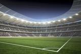 Fototapeta Stadion mit Blick von der Ecke