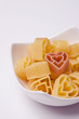 Heart shape pasta