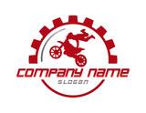 motorcycle stunt logo poster