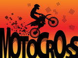 Motocross racing background, vector illustration