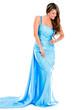 Beautiful woman in a long dress