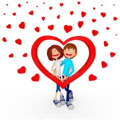 3D Valentines couple