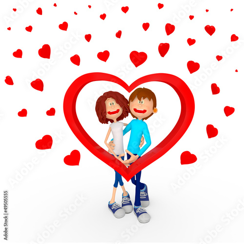 3D Valentines couple