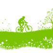 Radfahrer Natur Wiese