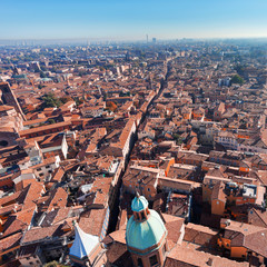 view of via San Vitale in Bologna