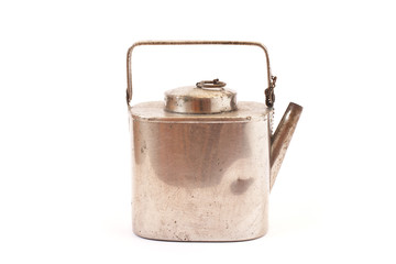 antique silver kettle