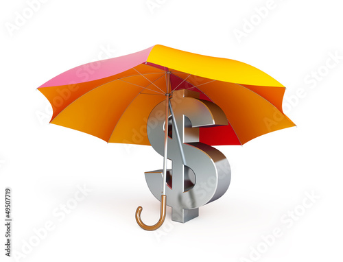 dollar sign under umbrella