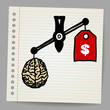 Brains outweigh the dollar sign on the scale.