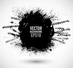 Vector tire track grunge background