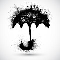 Umbrella. Vector grunge sketch