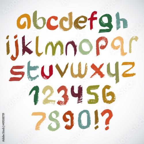 Colorful grunge font