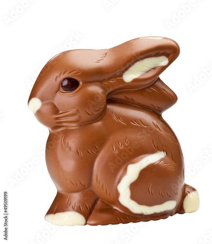Schokoladenhase freigestellt (mit Clipping Path) - 49509199