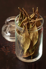 Laurel bay leaves.