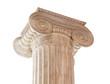 Leinwanddruck Bild - Ionic Column Capital on white
