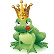 Prince Frog Cartoon Clip Art with Kiss-Principe Ranocchio Bacio