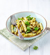 Penne Pasta with Basil Pesto and Capers