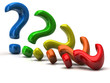 Colorful question mark signs