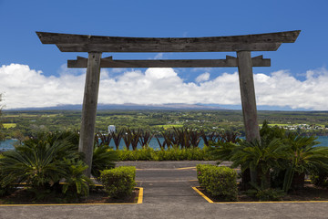 Entrance to Hilo's ocean front park