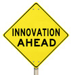 Yellow Warning Sign - Innovation Ahead - Future