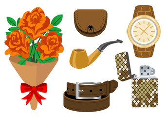 Accessories and bouquet-Father's Day gift