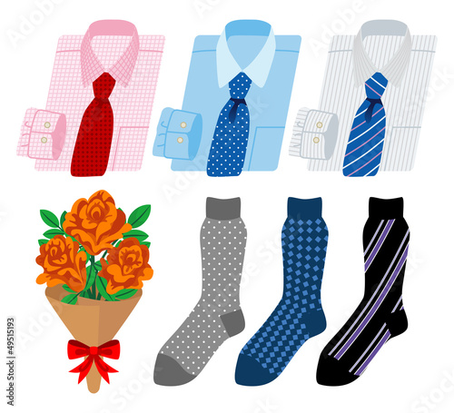 business shirt and socks-Father's Day gift