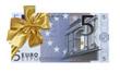 billet cadeau de 5 euros