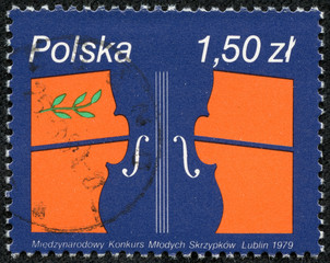 stamp shows International Competition for Young Violinistst