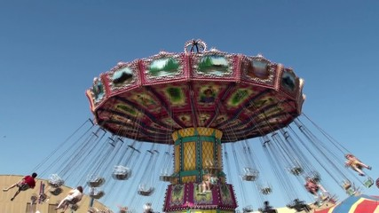 Amusement rides at Ventura County Fair 2012. California, USA.