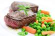 Rindersteak mit Gemüse