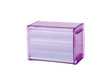 A beautiful purple plastic cd or dvd box