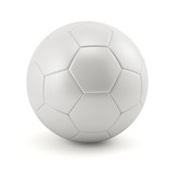 Leather white football. Soccer ball