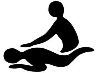Abstrakte Darstellung einer Massage – Vektor und freigestellt