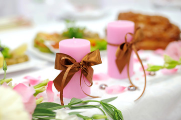 Decorated Pink Candles