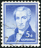 USA - 1954: shows James Monroe (1758-1831), by Rembrandt Peale