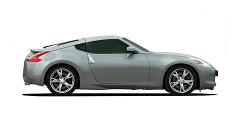 sport coupe on white background