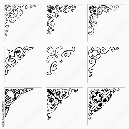 Corner decorative elements