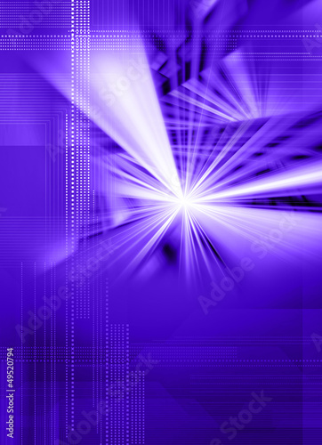 purple digital light burst