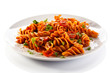 Pasta with tomato sauce and vegetables