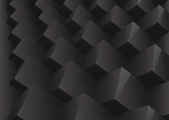 Abstract geometric black background stacked cube
