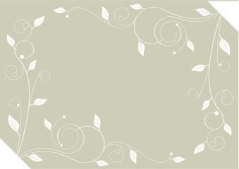 Ornement feuillage blanc