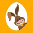 Easter Bunny Eggframe Dots Orange