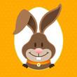 Happy Easter Bunny Eggframe Dots Orange
