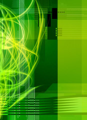 green geometric abstract
