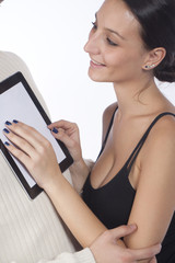 Couple  Using Tablet Computer