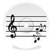 Musik CD mit Noten