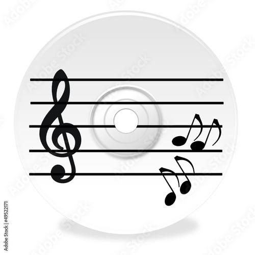musik cd mit noten stockfotos und lizenzfreie vektoren auf bild 49522171. Black Bedroom Furniture Sets. Home Design Ideas